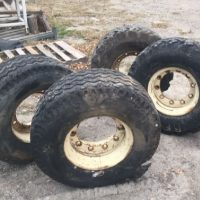 Set of 4 - Foam-Filled tires and Rims for Sale